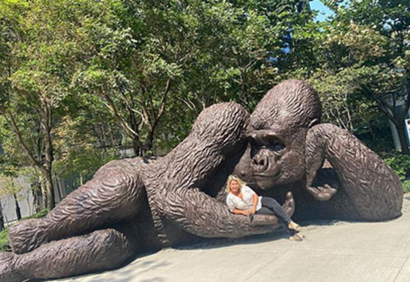 В парке Нью-Йорка появилась гигантская обезьяна
