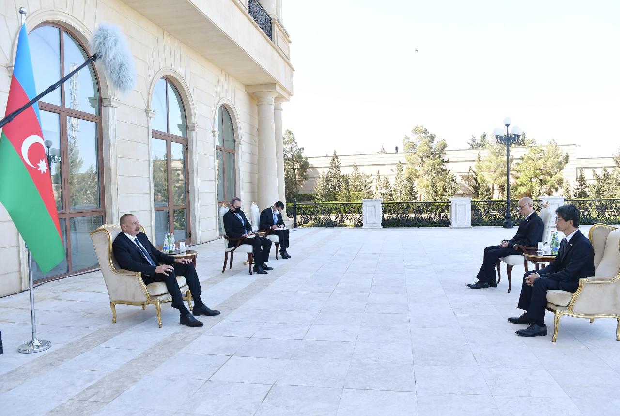 Президент Ильхам Алиев принял верительные грамоты на новоназначенного посла Японии в Азербайджане