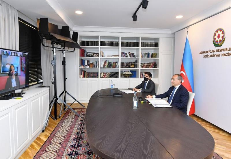 Микаил Джаббаров в формате видеоконференции встретился с региональным директором Всемирного банка по Южному Кавказу