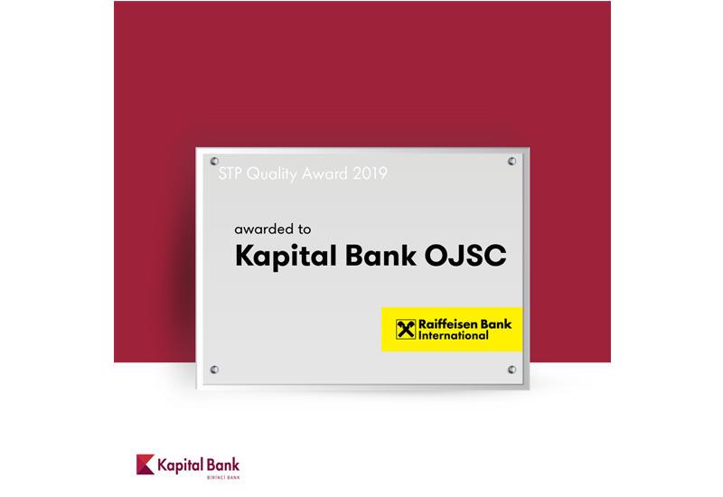 Kapital Bank получил награду от Raiffeisen Bank International (R)