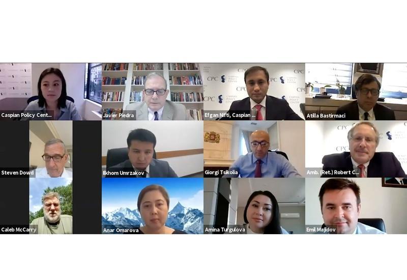 В Вашингтоне прошел вебинар по экономической политике в Каспийском регионе