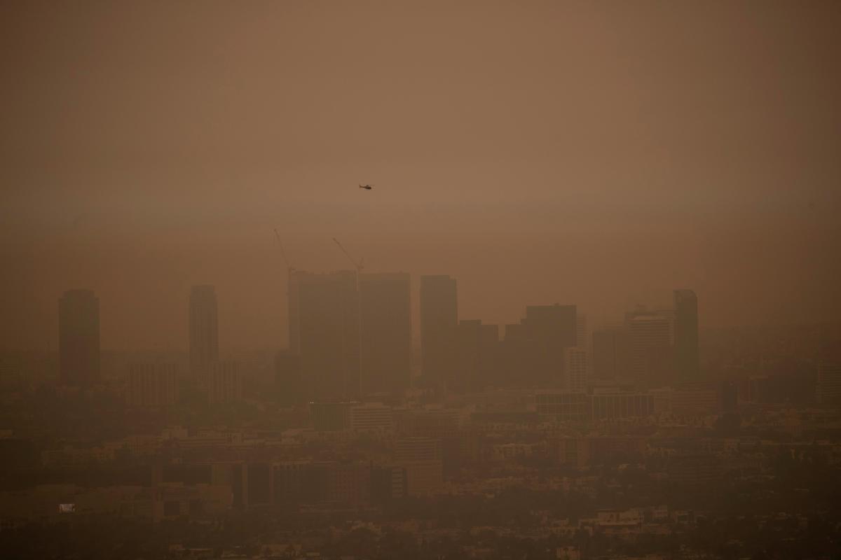 В США резко ухудшилось качество воздуха из-за лесных пожаров