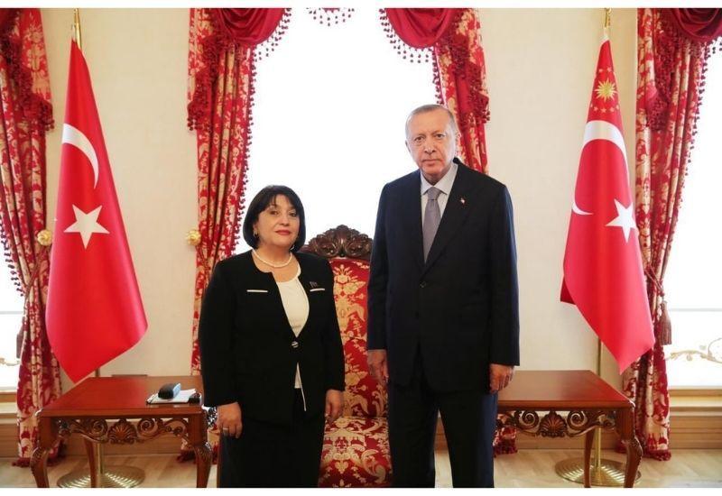 Сахиба Гафарова провела переговоры с Президентом Турции Реджепом Тайипом Эрдоганом