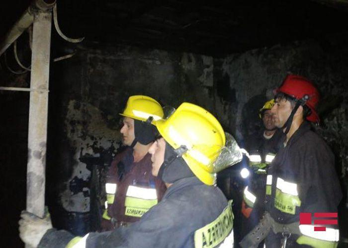 Сильный пожар в Сумгайыте