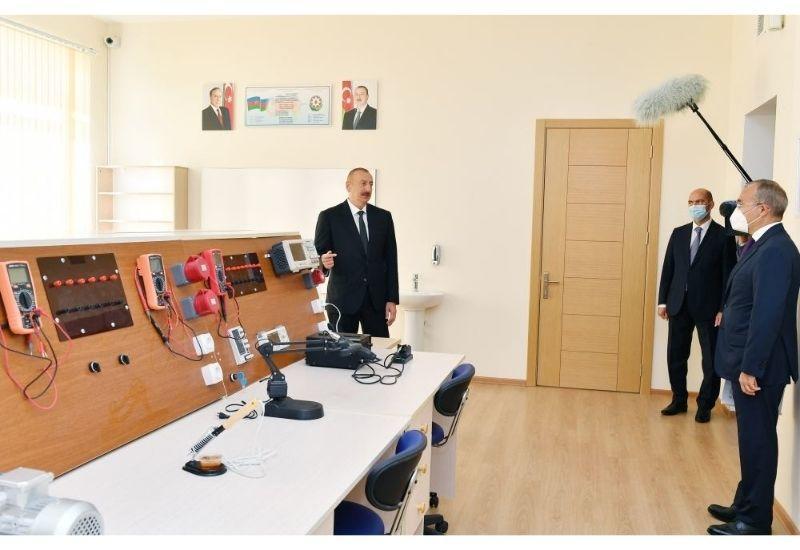Президент Ильхам Алиев: Необходимо подготовить предложения, связанные с дальнейшим развитием промышленного парка в Сумгаите
