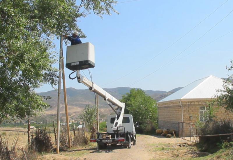 В селе Агдам Товузского района началась реконструкция линий электропередач