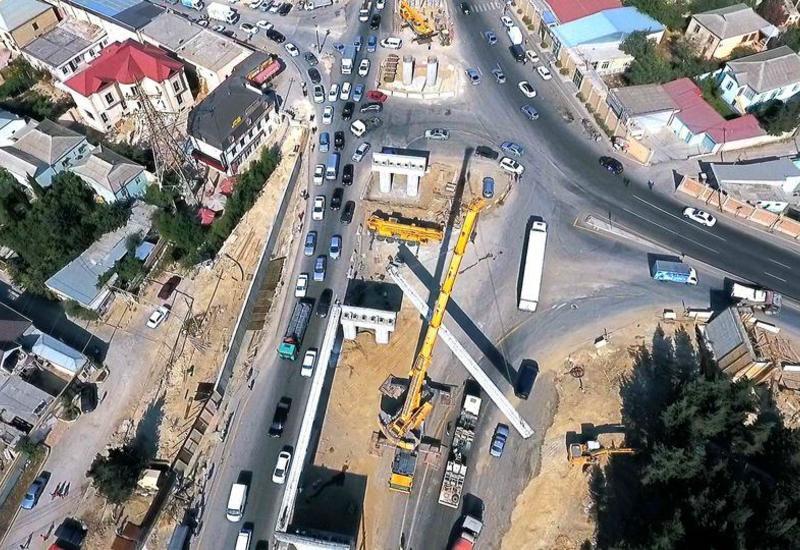 Названо время завершения строительства дорожной развязки на выезде из Баку