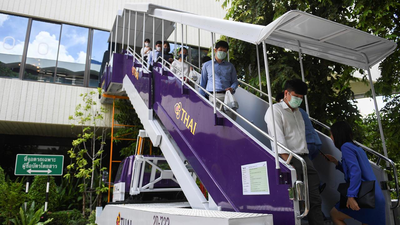 В Таиланде открылся ресторан с бортовым питанием