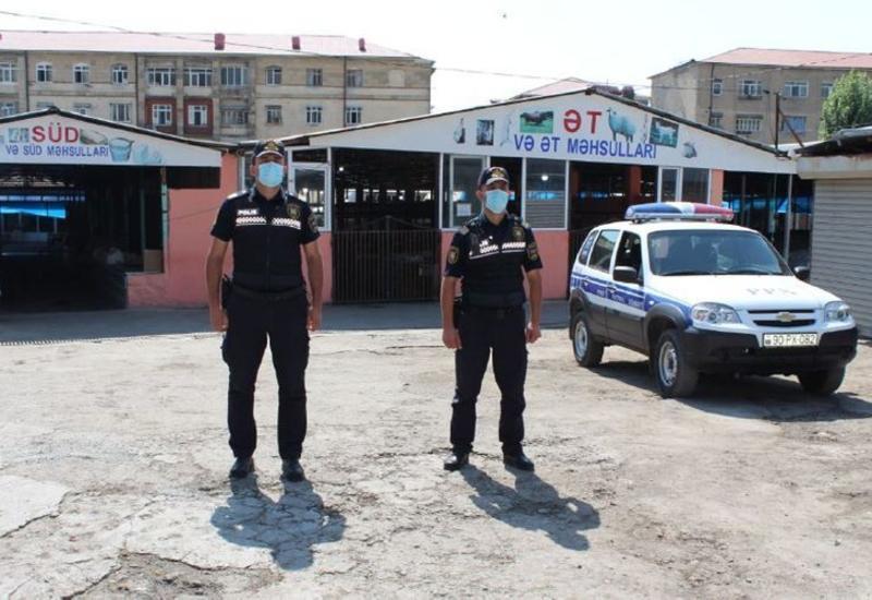 Закрытый из-за коронавируса Шекинский рынок взят под полицейский контроль