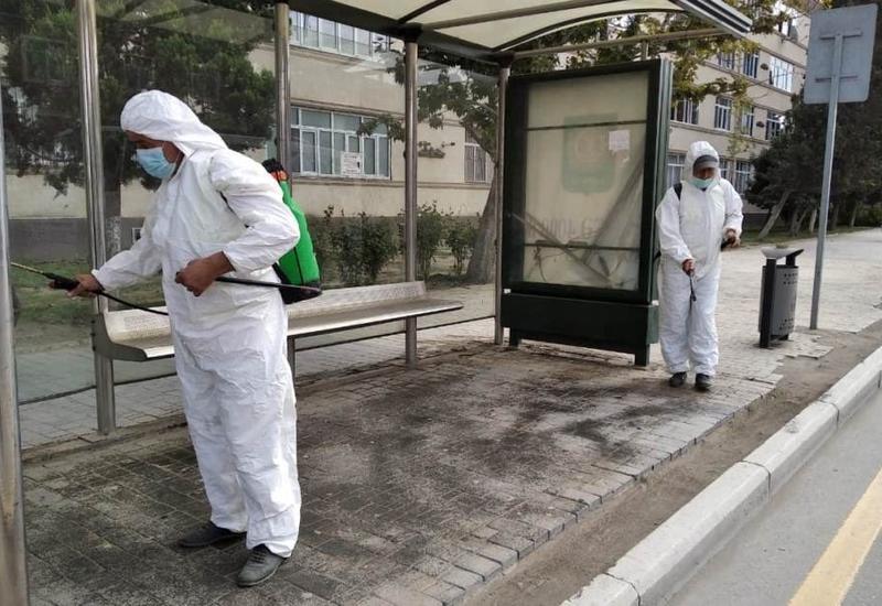 В Гяндже усилены дезинфекционные работы против COVİD-19