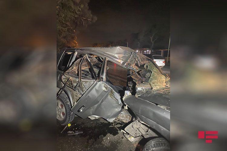 В Баку произошла авария, есть пострадавшие