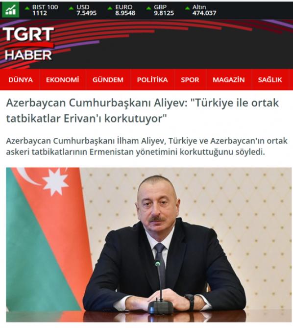 Зарубежные СМИ широко осветили интервью Президента Ильхама Алиева местным телеканалам