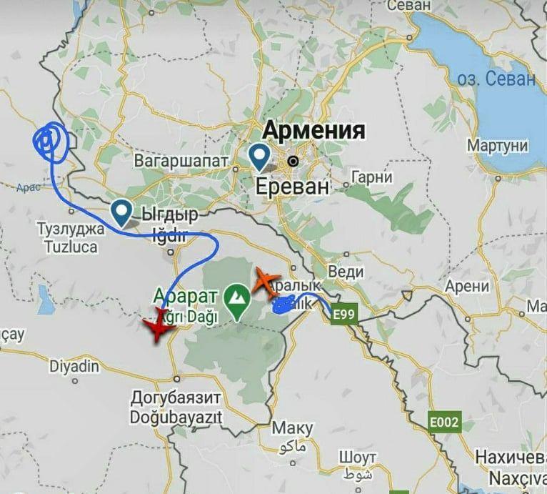 Турецкие беспилотники на границе с Арменией