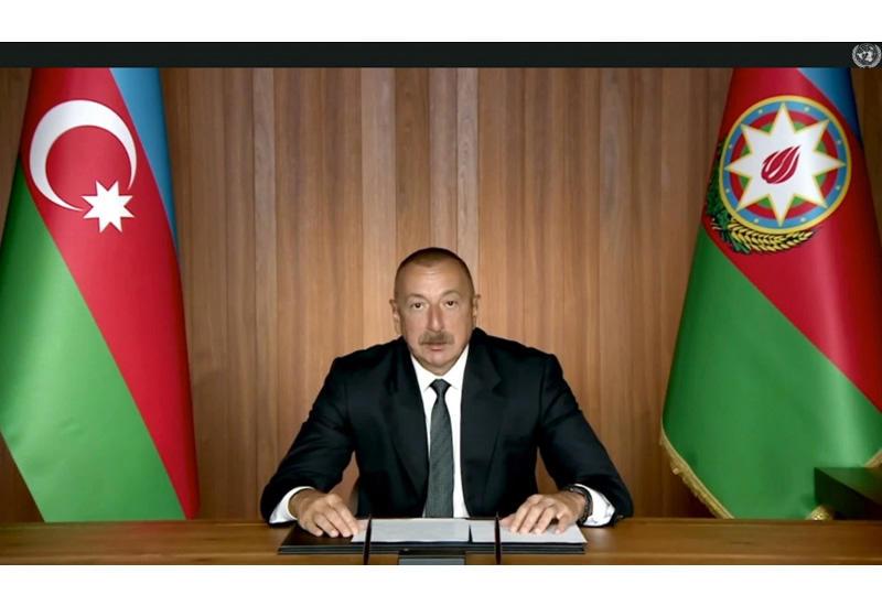 Prezident İlham Əliyev: Bu gün davam edən COVID-19 pandemiyası multilateralizmin əhəmiyyətini bir daha nümayiş etdirir