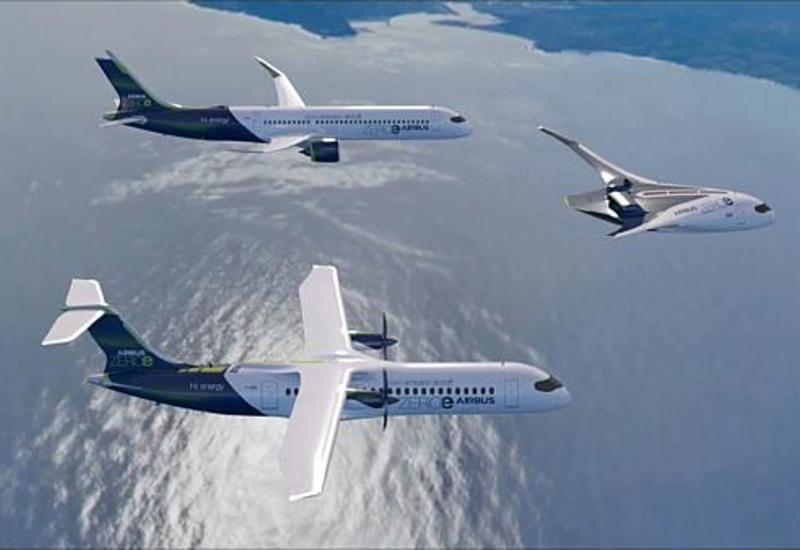 """Airbus представила три прототипа """"чистых"""" самолетов"""