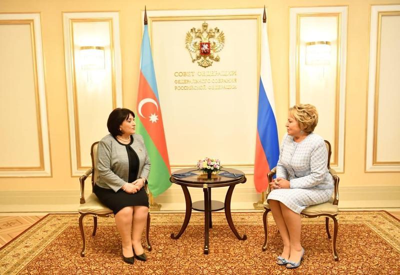 Сахиба Гафарова встретилась с Валентиной Матвиенко