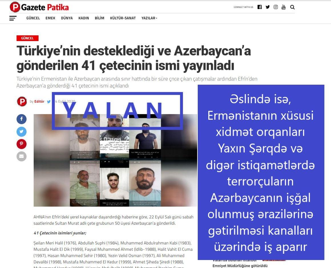 Разоблачен еще один армянский фейк против Азербайджана