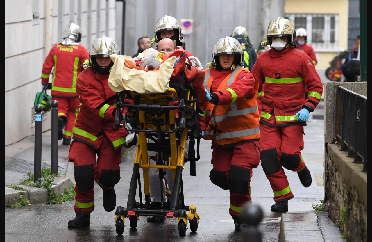 Резня у бывшего здания редакции Charlie Hebdo в Париже