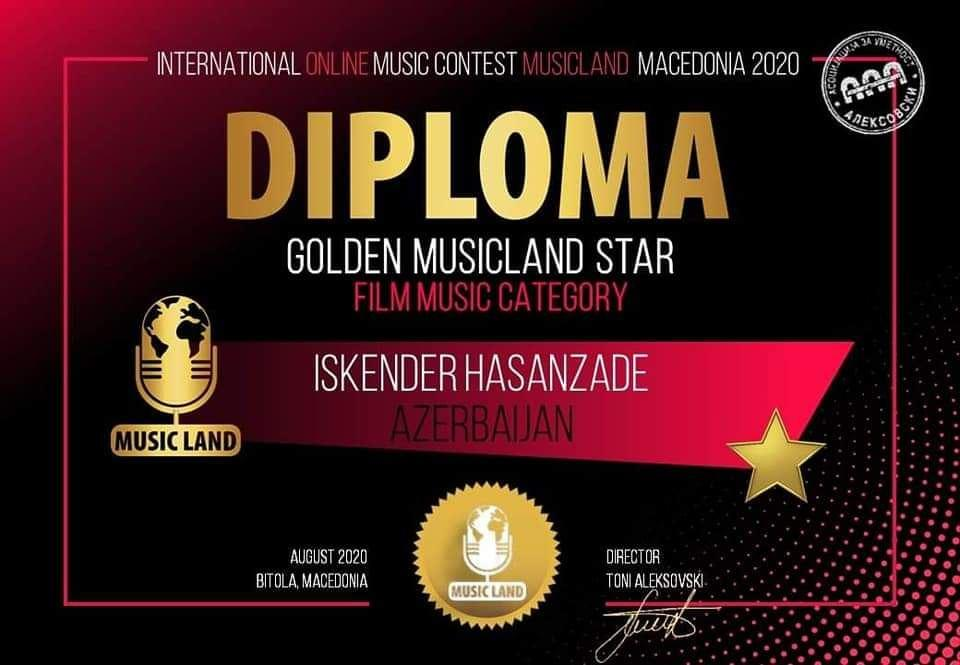 Успех юного азербайджанского вокалиста на конкурсе в Македонии