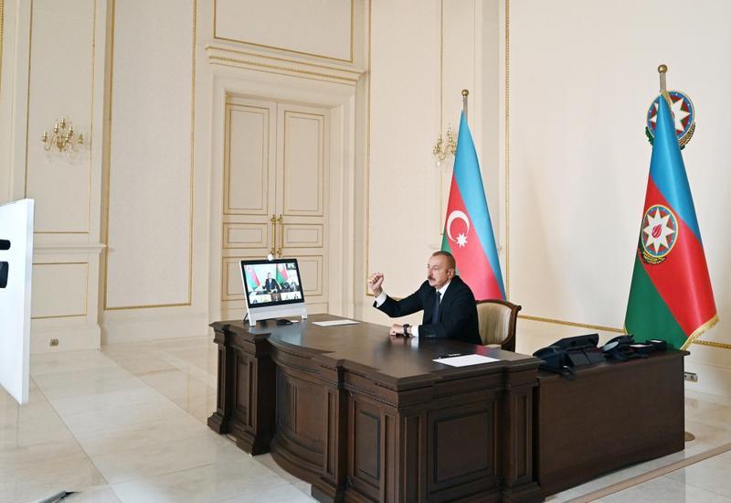 Президент Ильхам Алиев поздравил азербайджанский народ и армию с освобождением нескольких сел от армянской оккупации