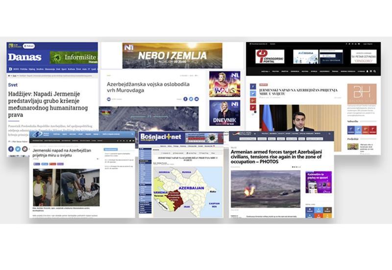 Macarıstan, Monteneqro, Serbiya, Bosniya və Hersoqovina mediasında Ermənistanın təxribatından yazılıb