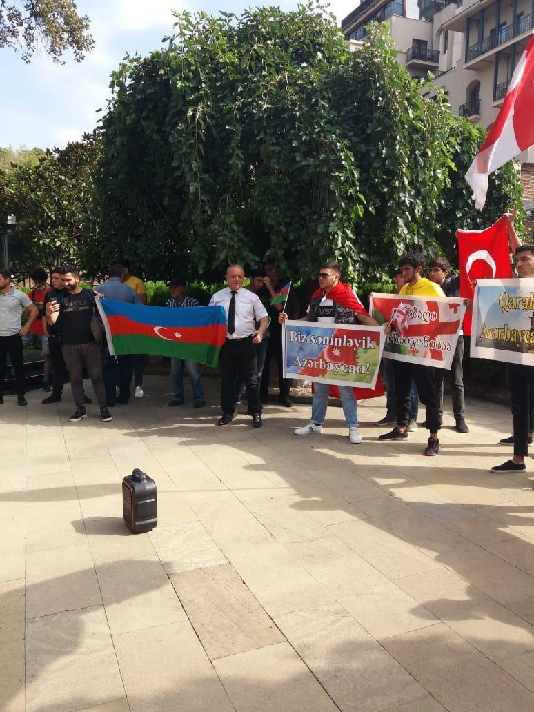 В Грузии проходит акция в поддержку Азербайджана
