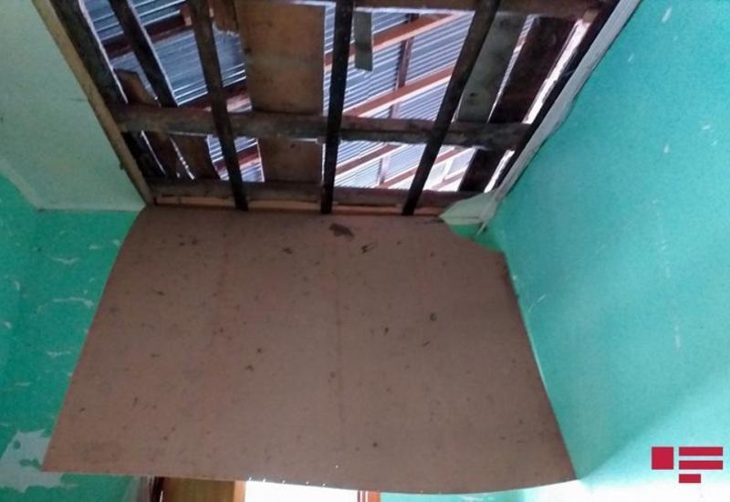 Армянский снаряд упал на жилой дом в Агдаме