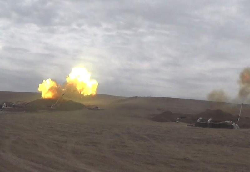Артиллерийские подразделения Азербайджана наносят сокрушительные удары по противнику
