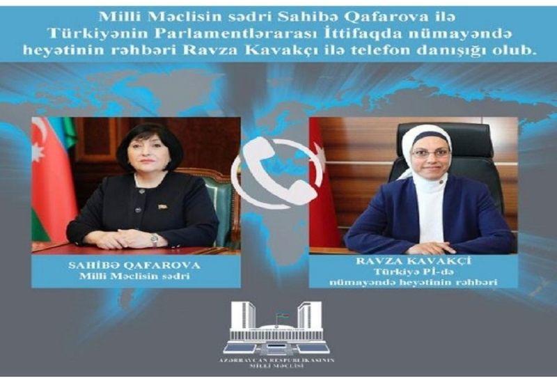 Председатель Милли Меджлиса обсудила ситуацию в Нагорном Карабахе с турецким парламентарием