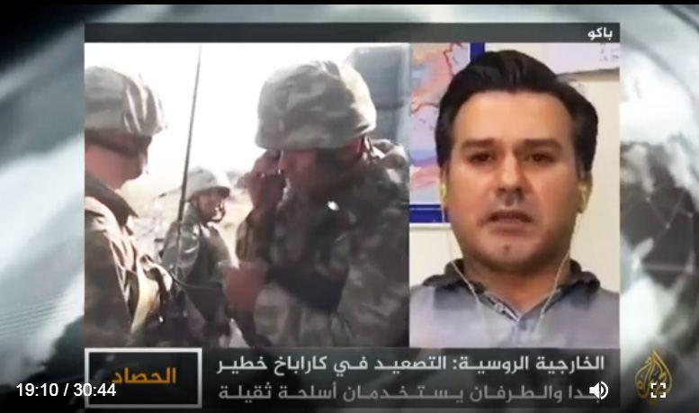 Главред АМИ Trend Руфиз Хафизоглу о ситуации в Нагорном Карабахе в эфире телеканала «Аль-Джазира»