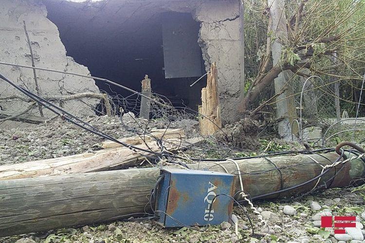 Армянский снаряд разорвался во дворе жилого дома в Тертере