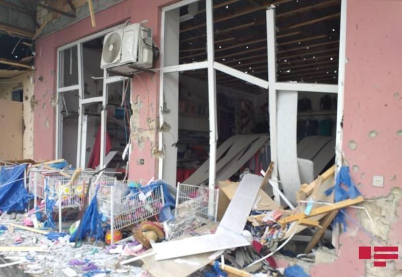 Выпущенный армянами снаряд упал на торговые объекты в Тертере