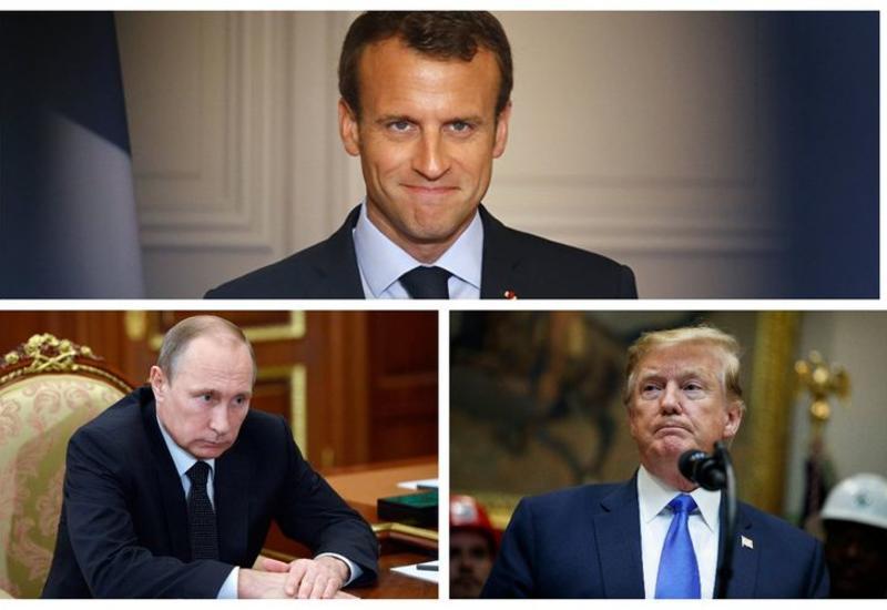 Макрон заявил, что планирует обсудить ситуацию в Нагорном Карабахе с Путиным и Трампом