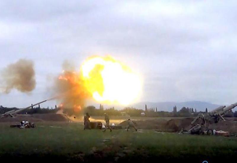 Вот как азербайджанская артиллерия громит противника