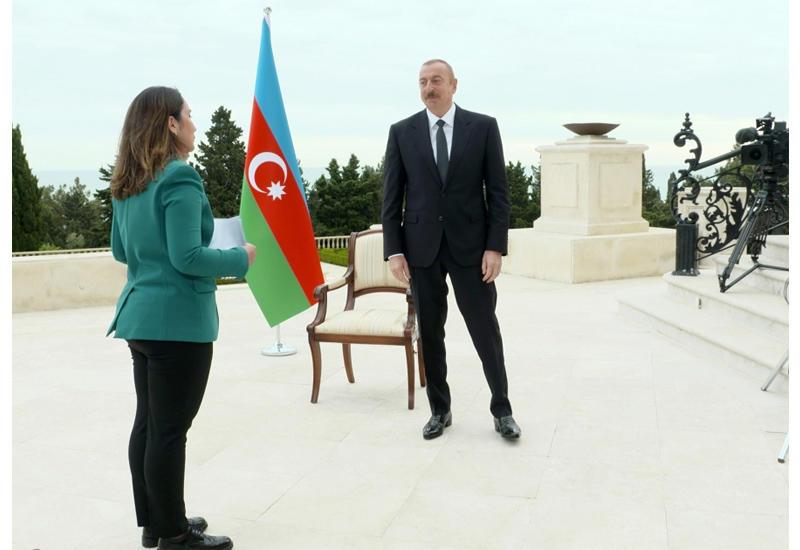 """Президент Ильхам Алиев дал интервью телеканалу """"Аль-Джазира"""""""
