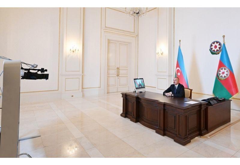 Президент Ильхам Алиев дал интервью телеканалу «Аль-Арабия»