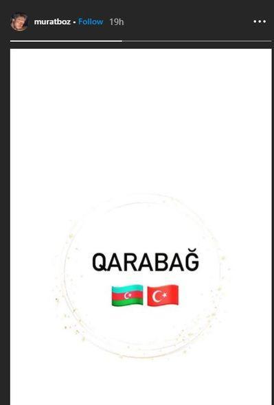 Мурат Боз поддержал справедливую борьбу Азербайджана