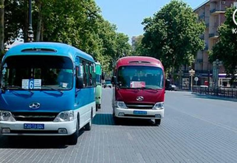 В ряде районов и городов Азербайджана по выходным не будет работать общественный транспорт