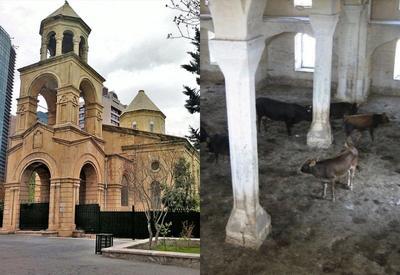 Армянская церковь в Баку и азербайджанские мечети в Карабахе - почувствуйте разницу