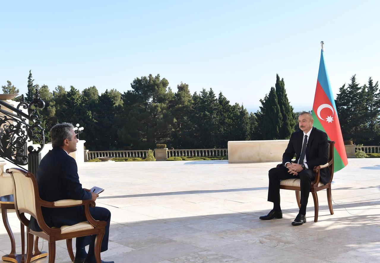 Президент Ильхам Алиев дал интервью турецкому телеканалу A Haber