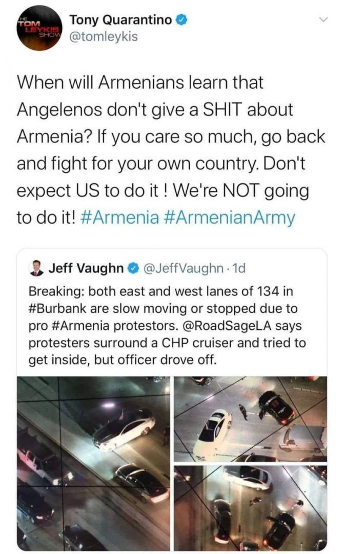 Жители Лос-Анджелеса плевать хотели на Армению!
