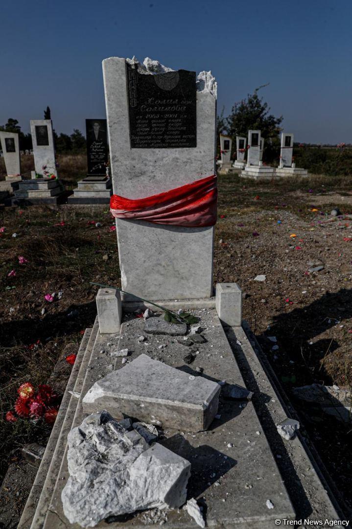 Армяне обстреляли кладбище в Агдаме
