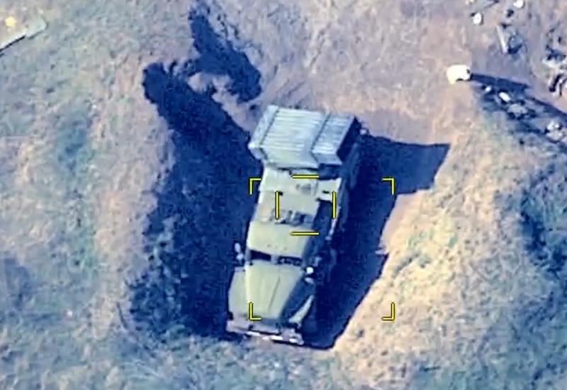 Азербайджанская армия уничтожила армянскую бронетехнику