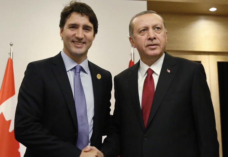 Эрдоган и Трюдо обсудили ситуацию в оккупированном Карабахе