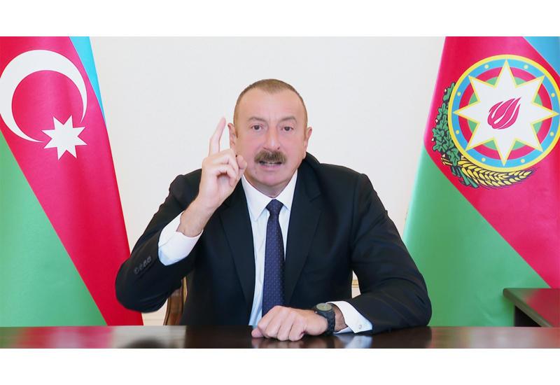 Президент Ильхам Алиев: Мы отвечаем им на поле боя, мы мстим и отомстим за этих невинных людей на поле боя
