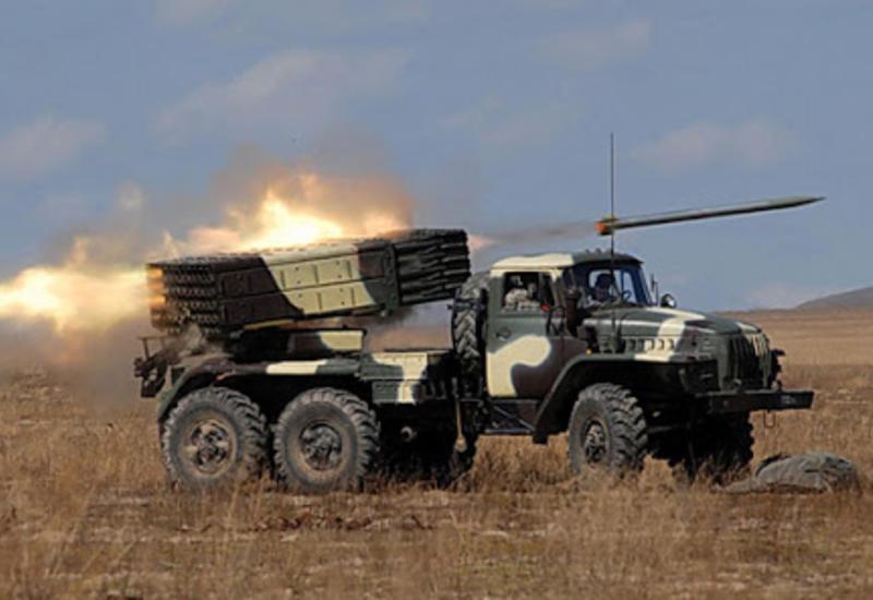 ВС Азербайджана уничтожили армянскую реактивную систему залпового огня БМ-21«Град»