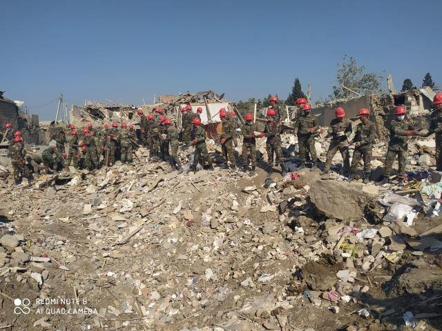 20 домов полностью разрушено из-за ракетного обстрела Гянджи