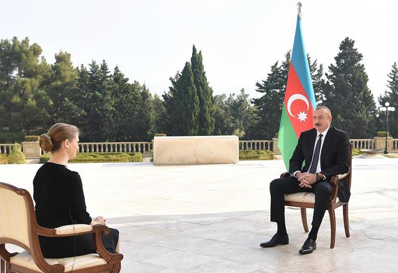 Президент Ильхам Алиев: Ни одна страна с нашей стороны в конфликт не вовлечена, никаких террористов с нашей стороны нет