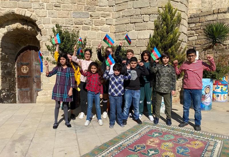 """Дети представили патриотический видеопроект """"Мы возвращаемся в Карабах!"""""""