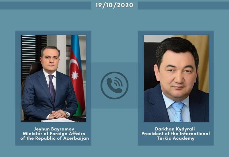 Джейхун Байрамов провел переговоры с президентом Международной Тюркской академии